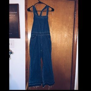 cropped pant overalls